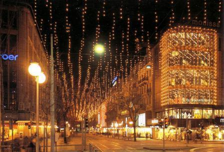 Gang dur Alt-Züri: Die alte Weihnachtsbeleuchtung in der Zürcher ...